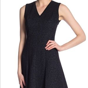 Rebecca Taylor Textured Floral A-Line Dress